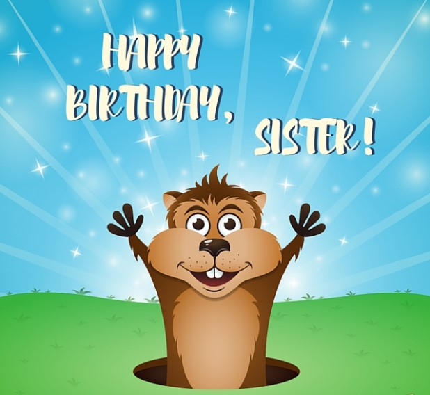Be happy Sister! Funny birthday wishes image
